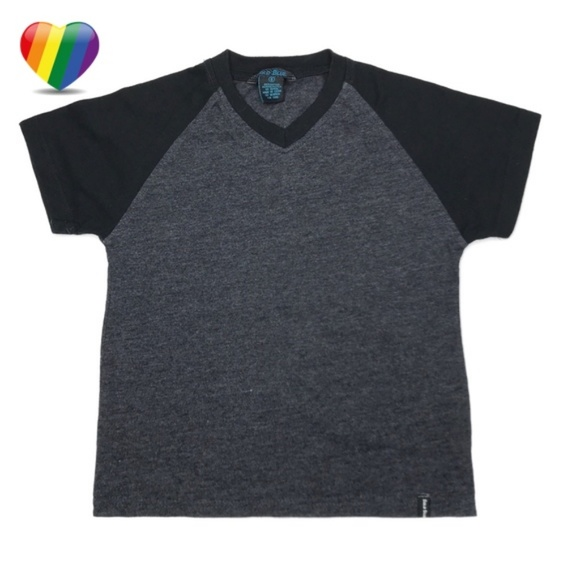 Bold Blue Other - Bold Blue Black &Gray V-Neck Tee Shirt A010467